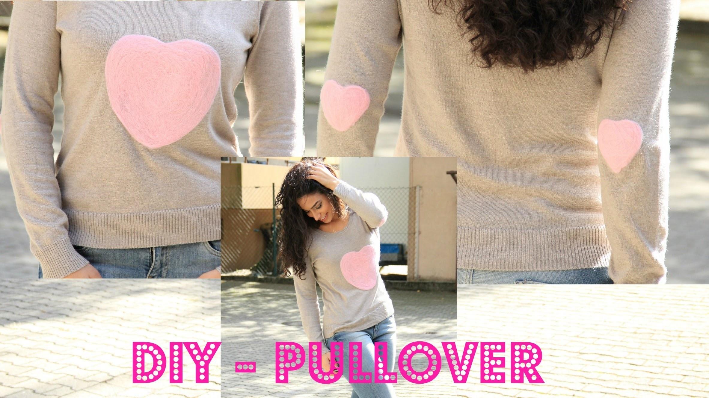 DIY - Bestickter Pullover & Ellenbogen Patches