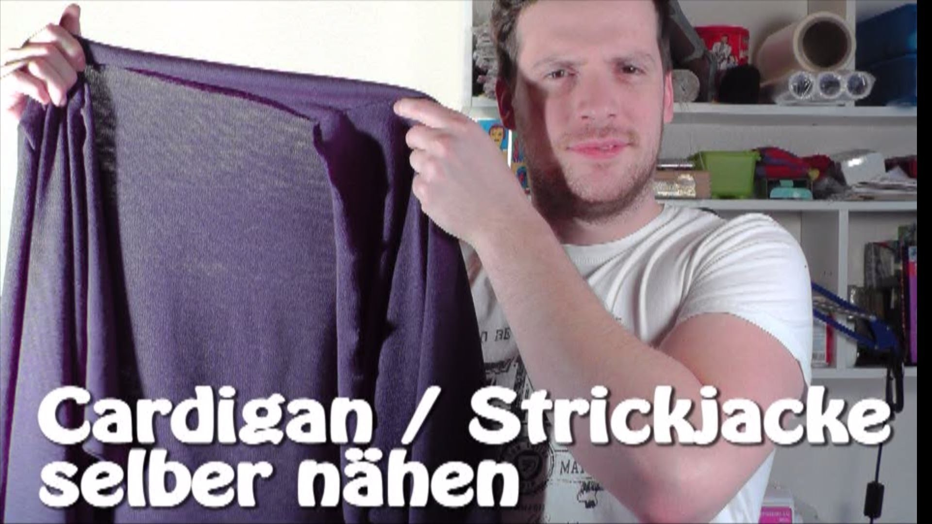 DIY | Cardigan. Strickjacke selber nähen I Nähen für Anfänger | Tutorial