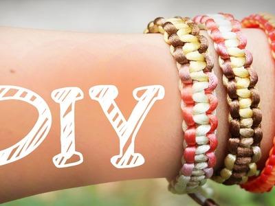 |DIY| Kreuzknoten-Armband - Makramé - Verschluss selbermachen - super schnell