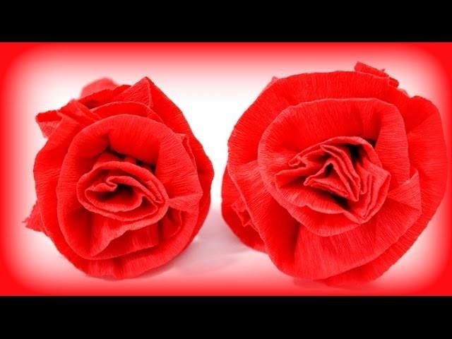 DIY Rose aus Krepppapier | Rose basteln | Geschenke basteln | Muttertagsgeschenk | Tutorial deutsch