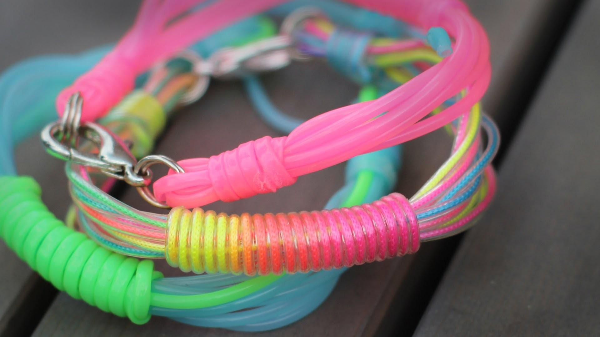 DIY Scoubidou-Armband für den Sommer - gewickelt - super easy