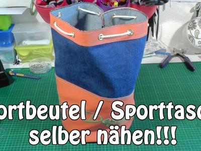 DIY | Sportbeutel. Sporttasche selber nähen I Nähen für Anfänger I Tutorial
