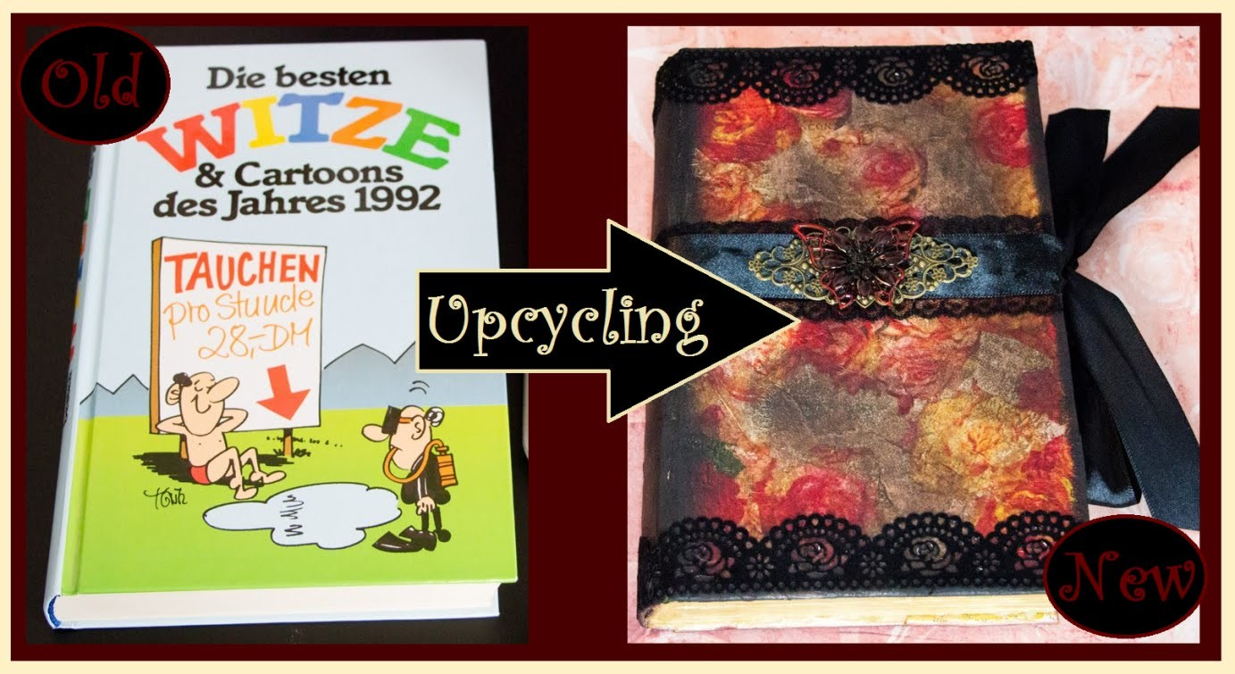[DIY] Upcycling Tutorial - Altes Buch neu in Szene