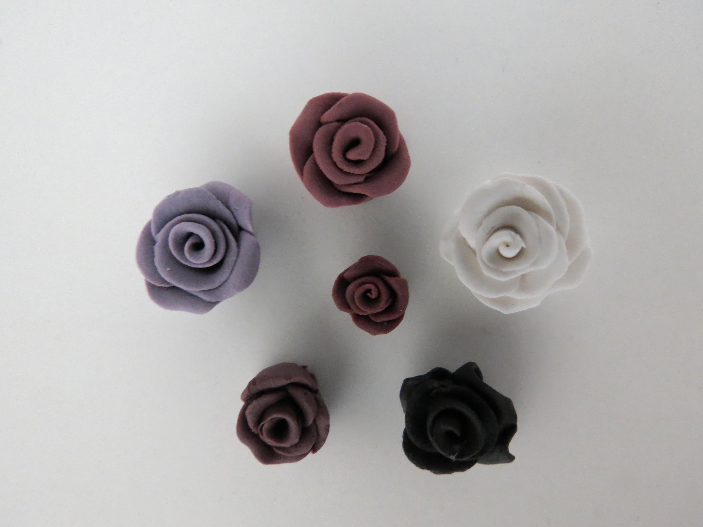 Einfache Rose aus Fimo * Anleitung