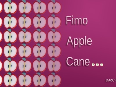 FIMO Apfel-Cane: Polymer Apple-Cane - Tutorial [HD.deutsch] (EN-Sub)