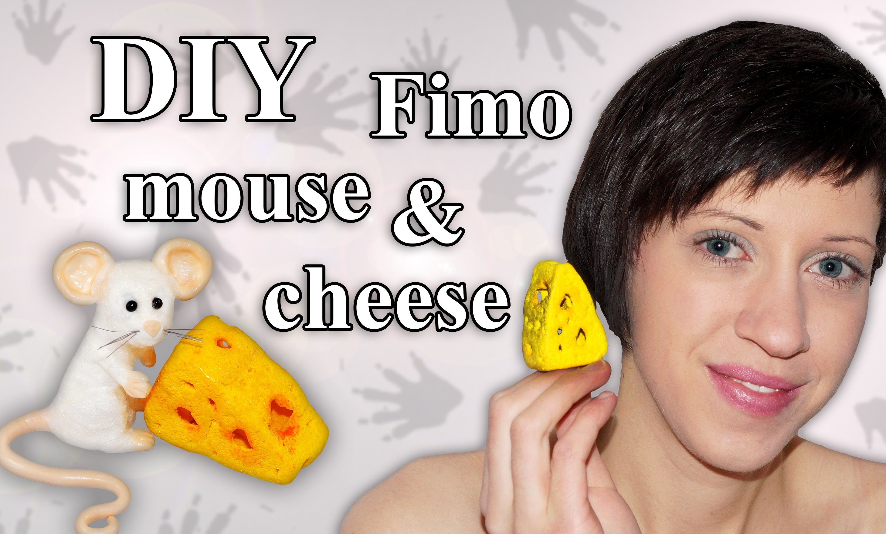 FIMO Maus: Polymer Clay Mouse (Cheese) - Tutorial [HD.DE] (EN-Sub)