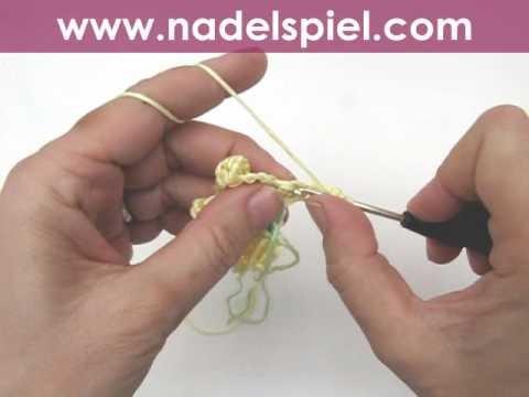 Häkeln lernen * Häkelblumen für Babydecke * Crochet Flower Baby Blanket