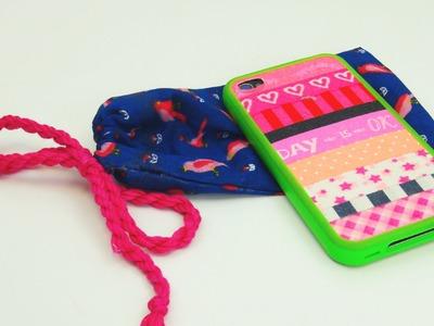 Handytasche DIY. Handyhülle. Handybeutel schnell selbst gemacht! Smartphone Bag Tutorial | deutsch
