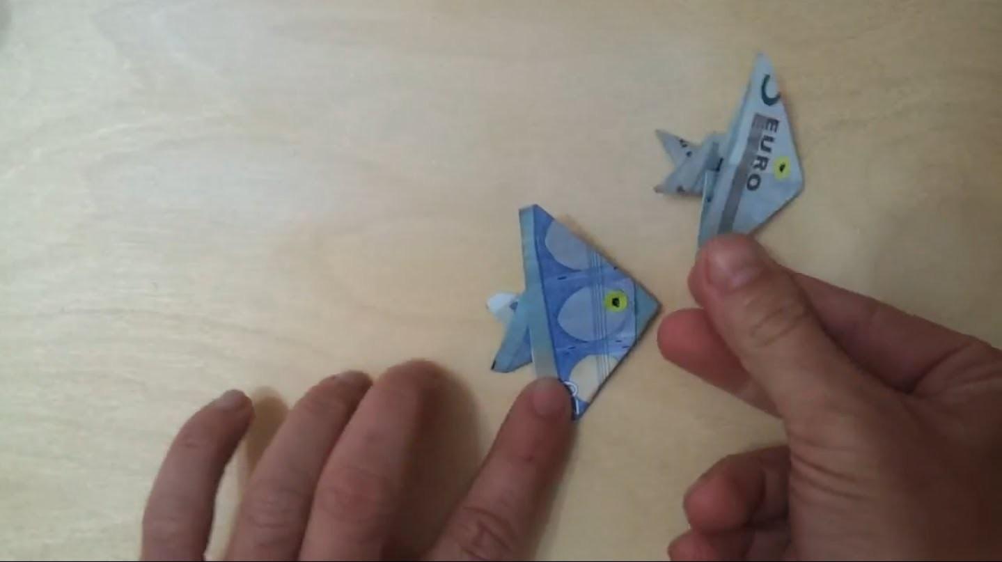 How to: Fisch aus Geld falten - Anleitung für Geld Geschenk zum Fisch falten - Origami Technik
