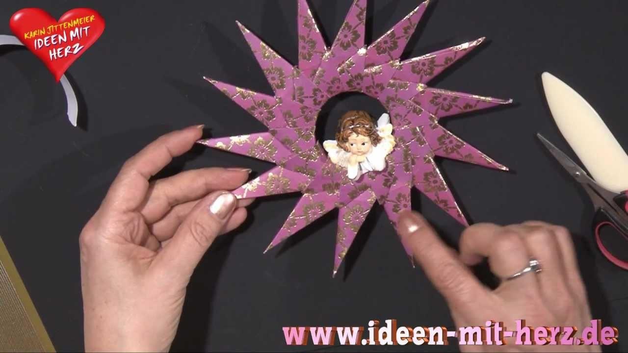 Ideen mit Herz - Origami Stern - Steckstern