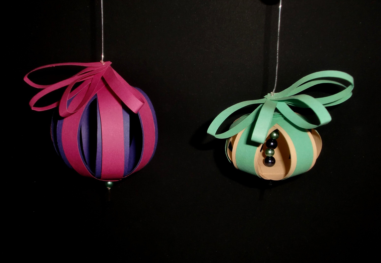 Kugeln aus Papier: Christmas balls - Paper Craft [HD.DE]