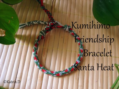 Kumihimo Friendship Bracelet Santa Hat