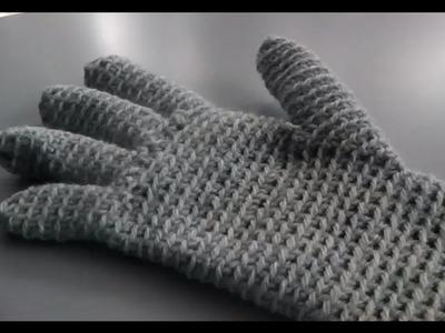 Linkshänder Anleitung - Handschuhe häkeln