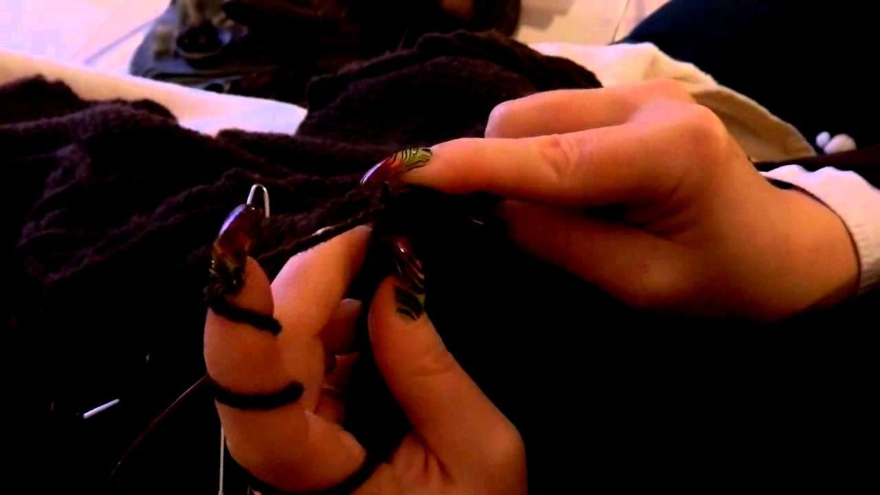 Long nails at work knitting part 2