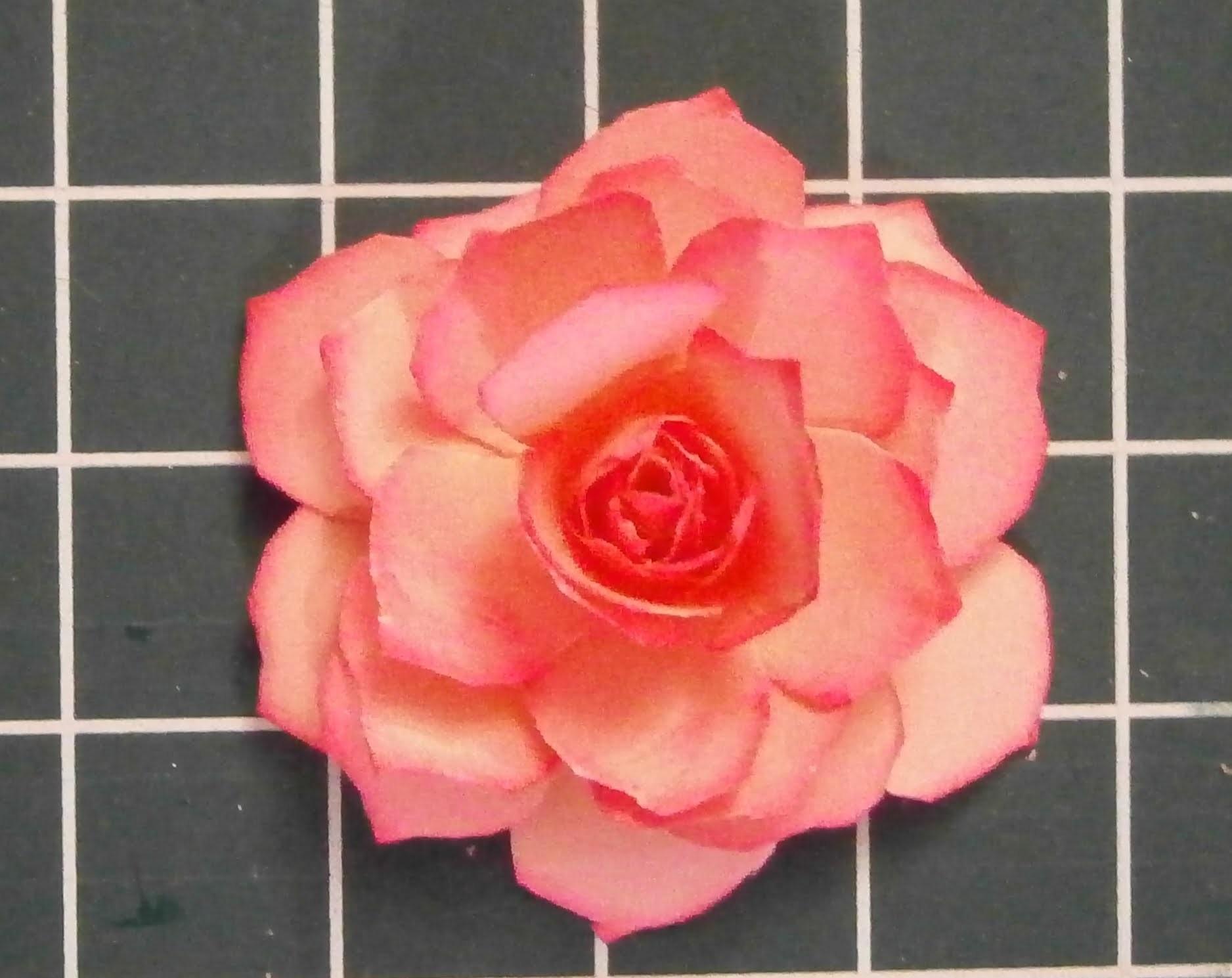 Muttertag eine Papier Rose selber basteln