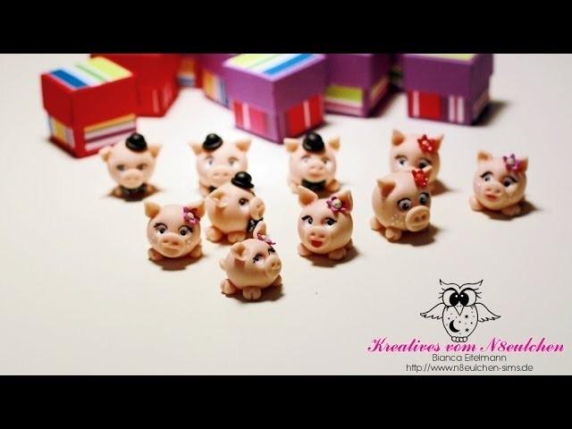 N8TV Polymer Clay # 9 Neue Glücksschweine
