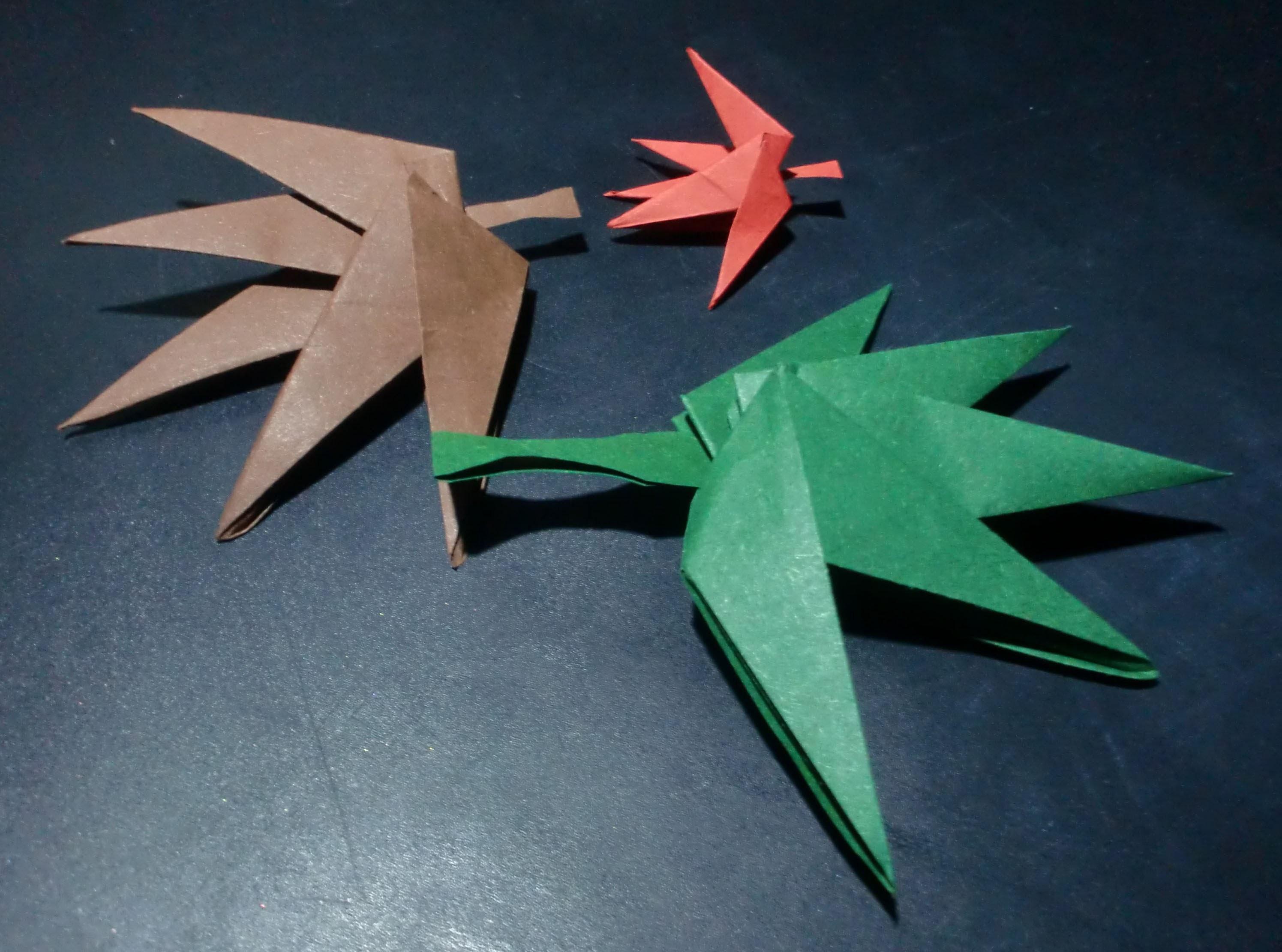 Origami Ahornblatt: falling leaves - Faltanleitung [HD.deutsch]
