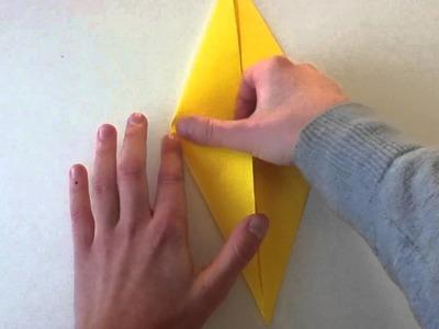 Origami Ente selber machen - Vogel basteln
