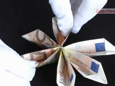 Origami-Faltanleitung: Geldschein-Blume basteln - DIY - Muttertag