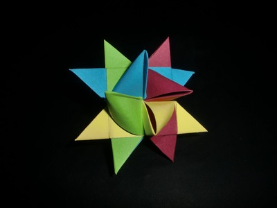 Origami German Star: Bunter Fröbelstern - Tutorial [HD.deutsch]
