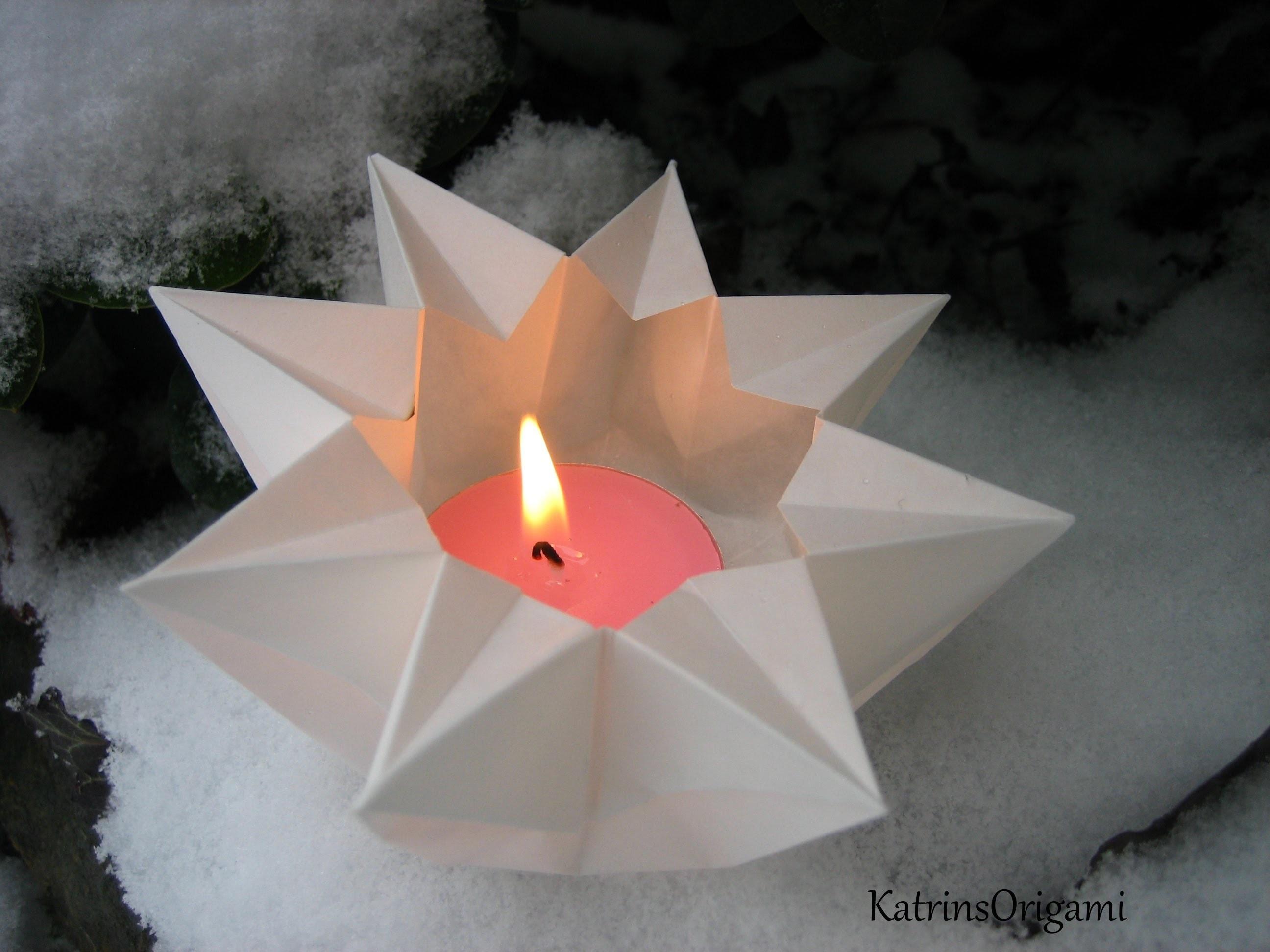 Origami ✬ Star Lantern ✬ Teelichtstern