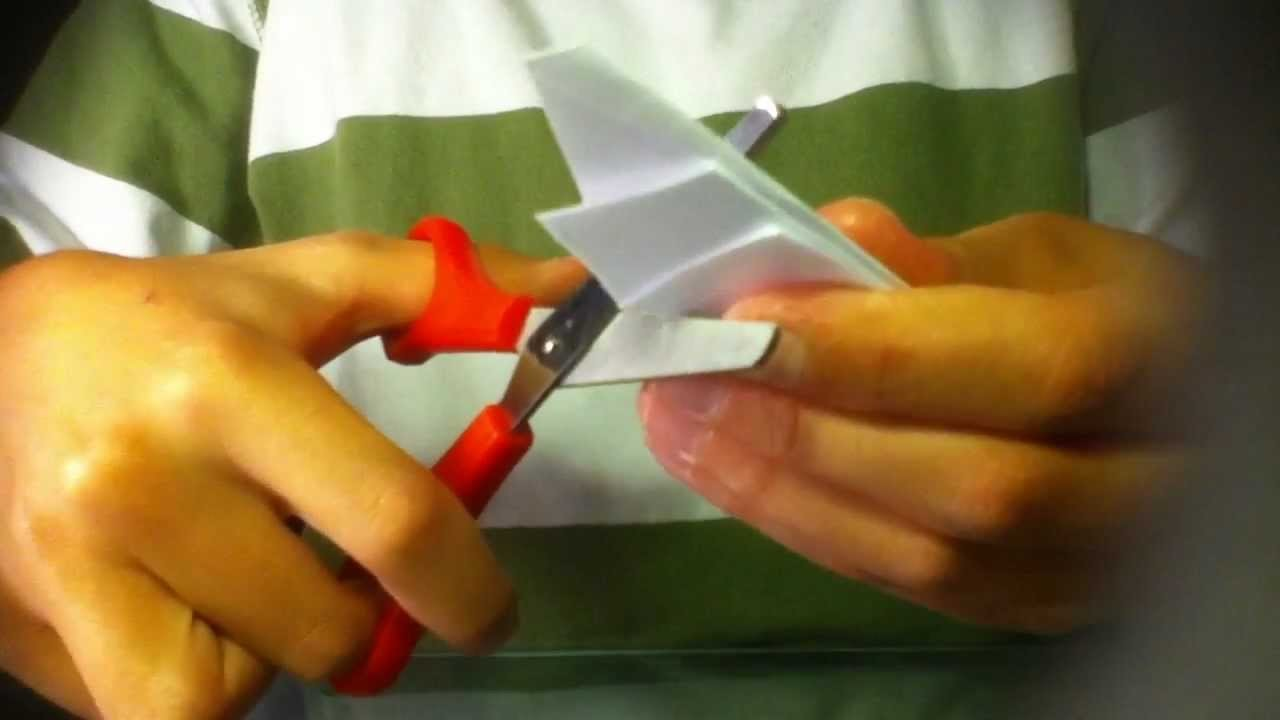 Origami Stern basteln. Pentagramm- Stern falten