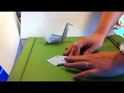 Origami Vogel falten. Papier Vogel falten - Origami Anleitung