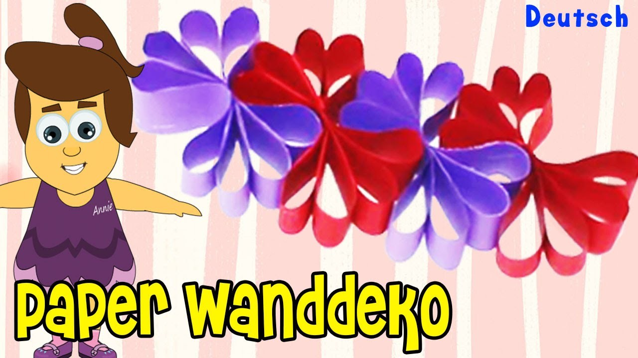 Papier Wanddeko auf Deutsch | DIY German Arts & Crafts