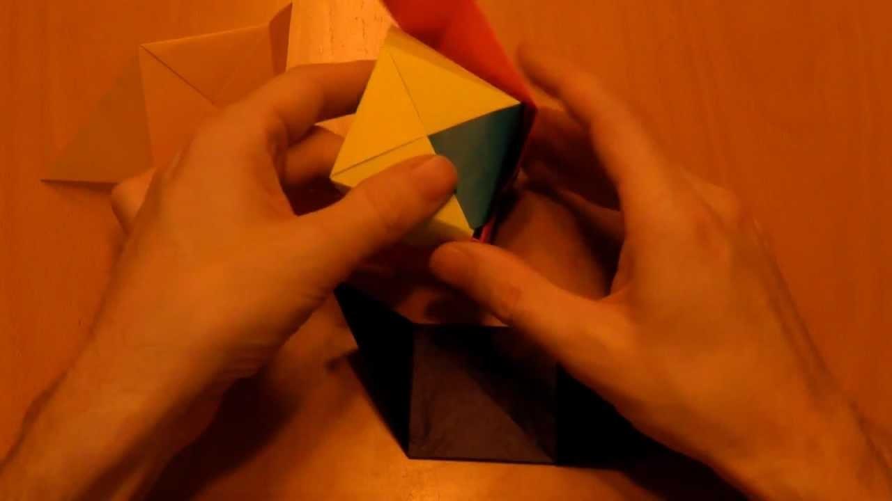 02 Origami: (d) Anleitung 6 Farbwürfel Cube Würfel falten