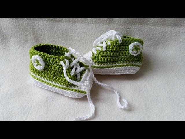 Babyschuhe häkeln – Turnschuhe – Sneakers - Teil 1 - Sohle by BerlinCrochet
