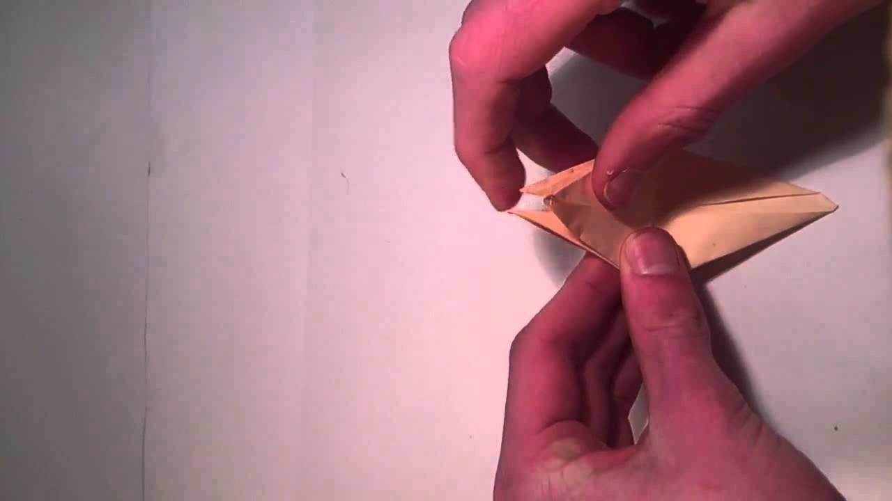 Basteln: Blumen falten mit papier -Origami