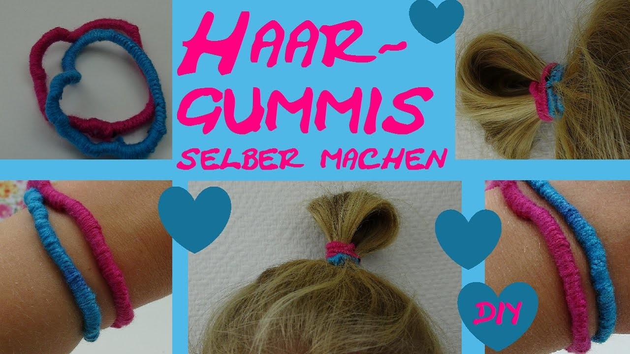 DIY Haarband Haargummi selber machen Anleitung Tutorial How-to