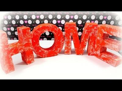 DIY Ideen | Deko Buchstaben Home | Basteln Dekorieren | Hobby | Tutorial deutsch