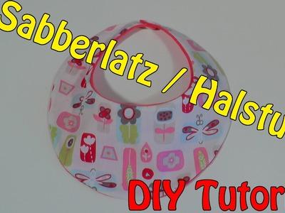 DIY | Sabberlatz. Halstuch selber nähen I Nähen für Anfänger | Tutorial