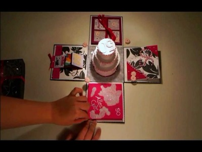 Explosionbox - Geburtstagskarte by Jay