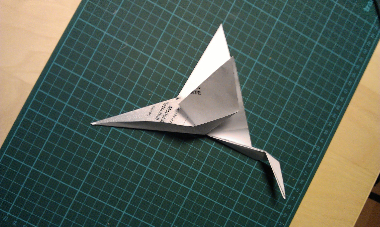 Faltanleitung Einfacher Origami Kranich
