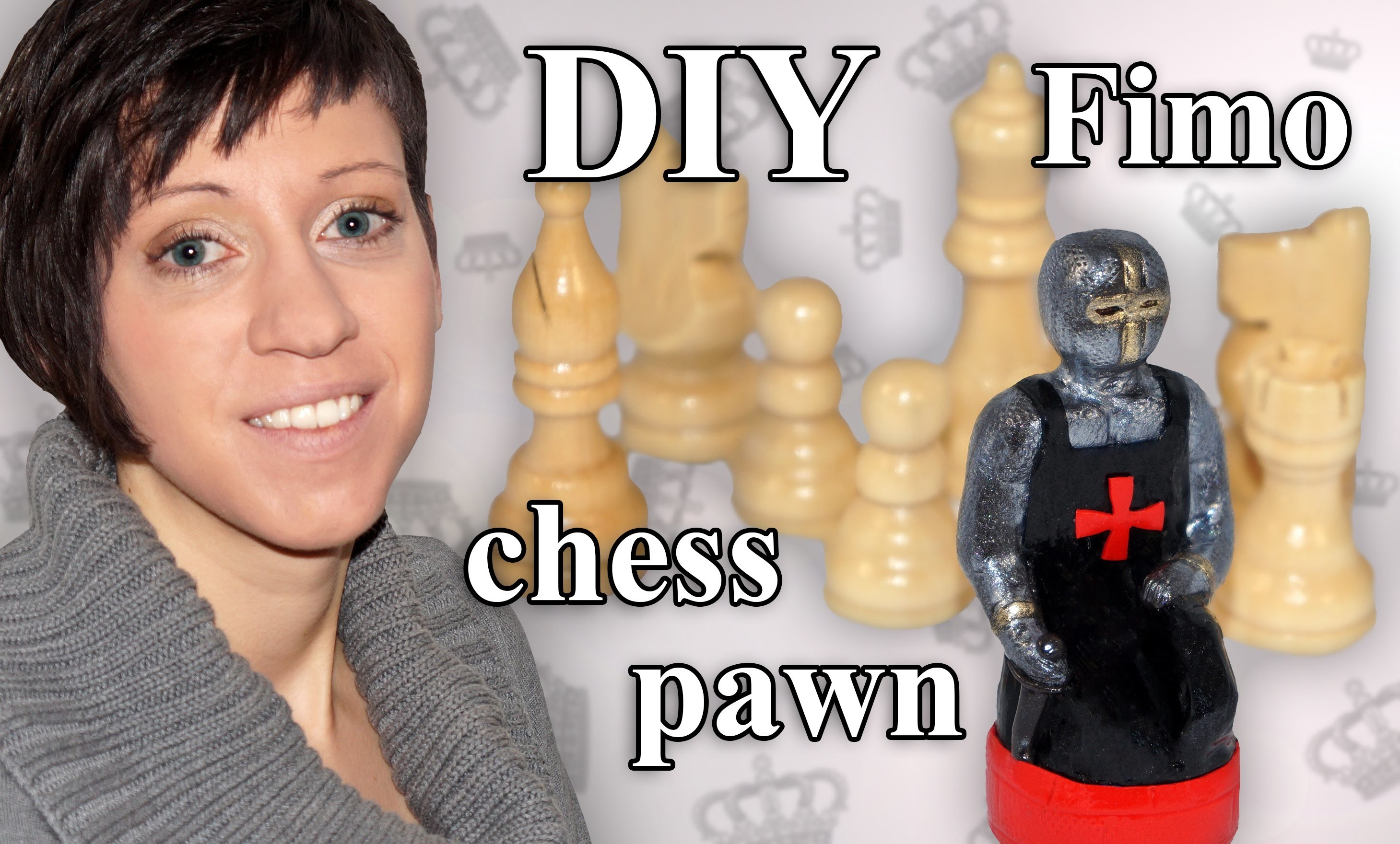 FIMO Bauer: Polymer Clay Chess Pawn - Tutorial [HD.DE] (EN-Sub)
