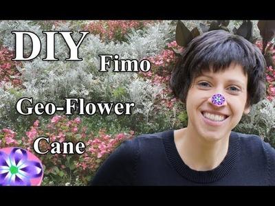 FIMO (Cane) Geometrische Blume: Polymer Clay Flower - Tutorial [HD.DE] (EN-Sub)
