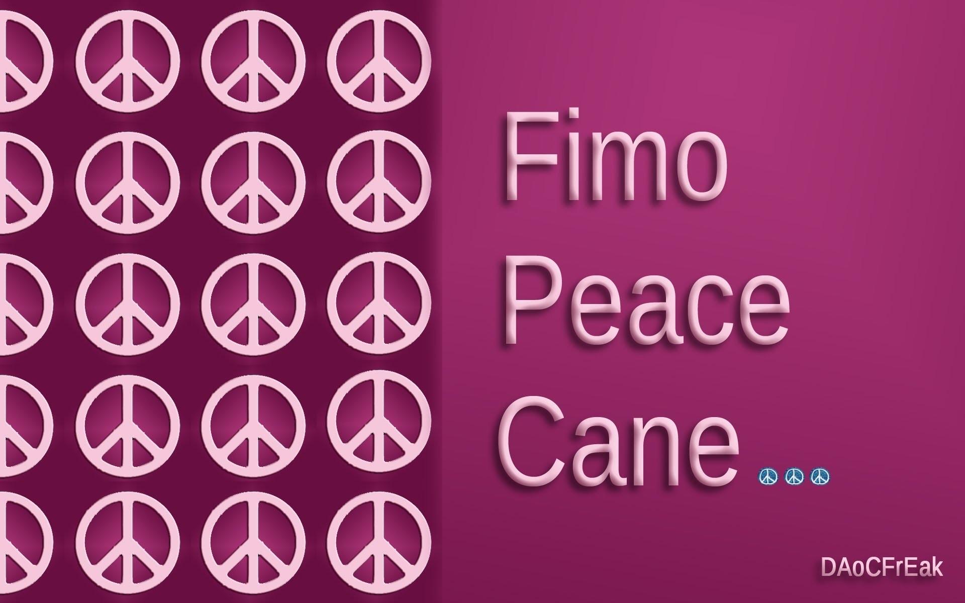 FIMO Friedens-Cane: Polymer Peacesign - Tutorial [HD.deutsch]