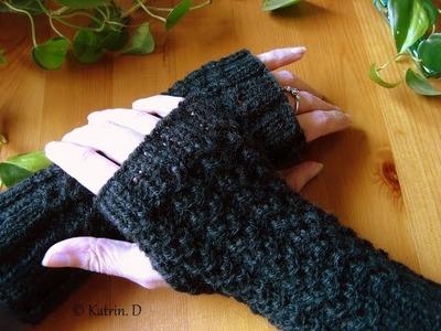 Fingerlose Handschuh. . stricken