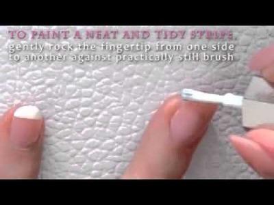 Französisch Maniküre zu Hause ohne Klebeband oder Aufkleber DIY Nagel Tutorial Schritt für Schritt