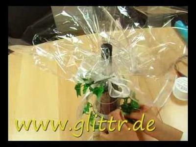 Geschenke verpacken: Flasche Beispiel 2