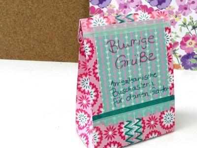 Geschenkideen für die beste Freundin - Blumen Papiertütchen selber basteln mit Blumensamen