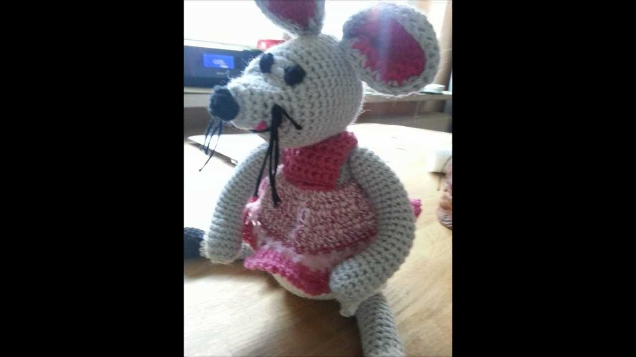 How to - crochet a tiny little cute mouse - tutorial