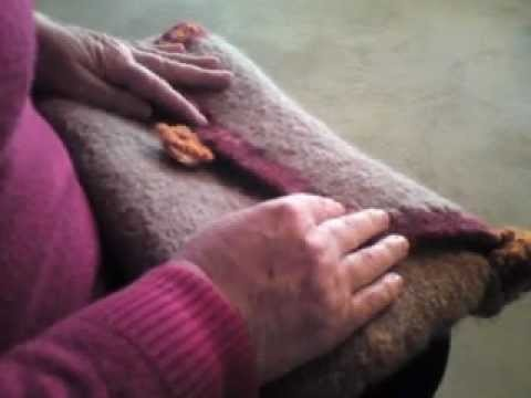 Neu ! Modische Filztasche Teil 2 (Stricken lernen für Anfänger) Knitting for beginners Feltedbag