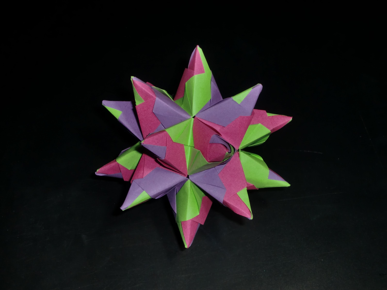 Origami Bascettastar - Tutorial [HD.deutsch]