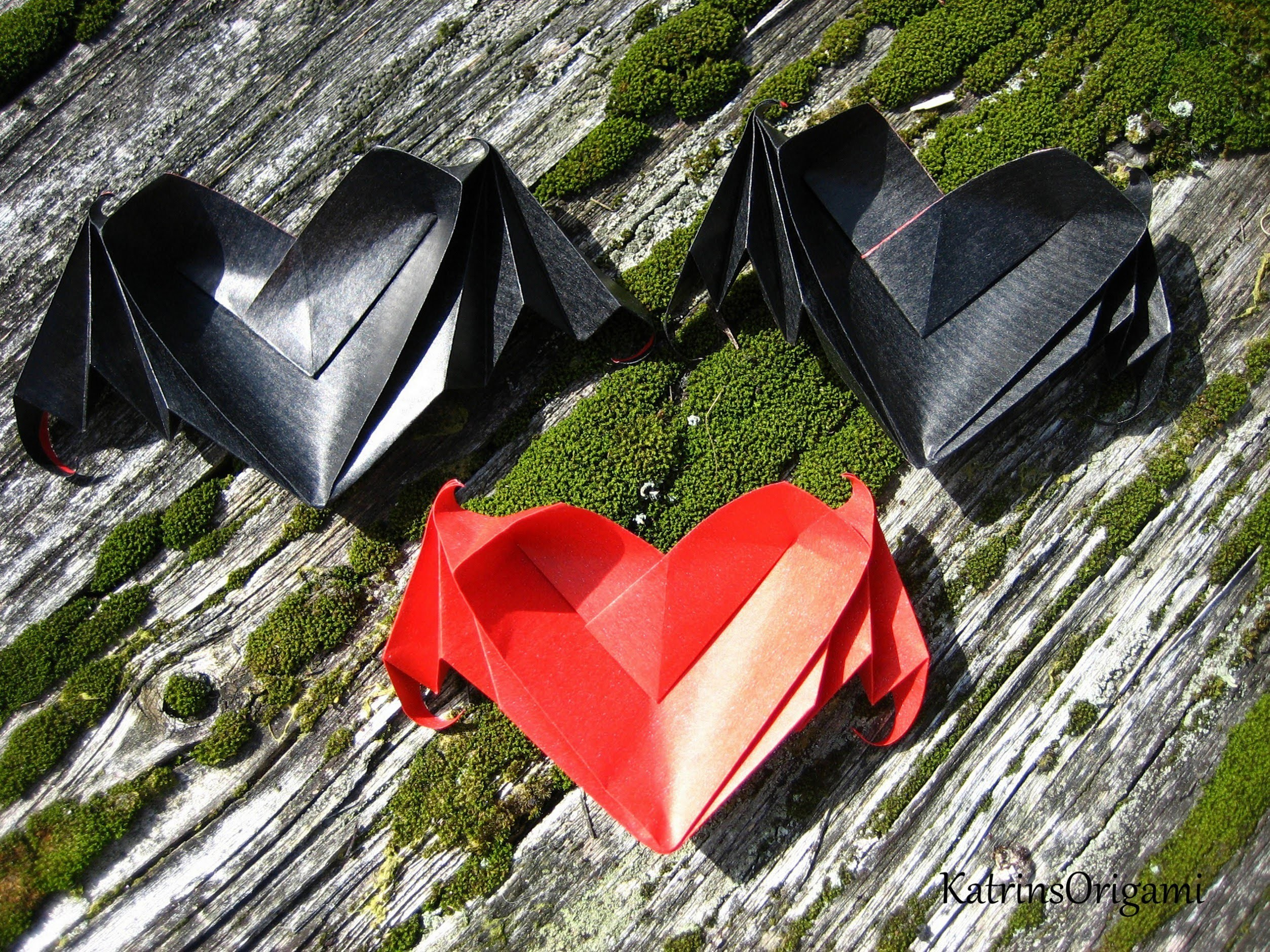 Origami ♥ Bat-winged Heart ♥