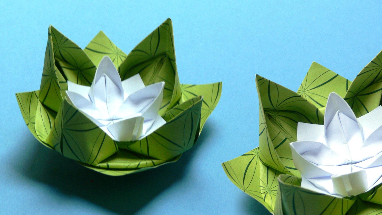 Origami Blumen falten - #02 Seerose