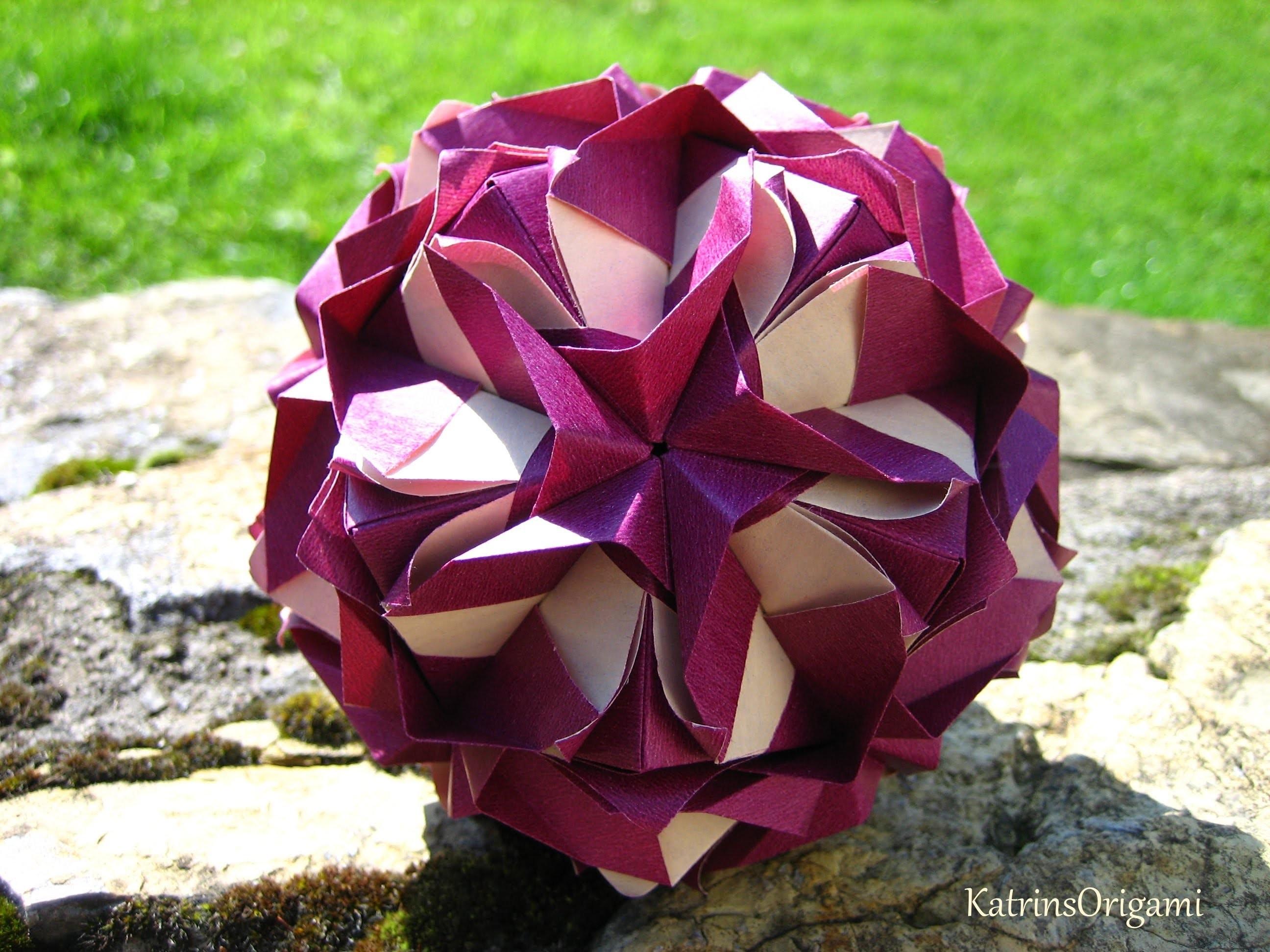 Origami ჱܓ Royal Rose ჱܓ Kusudama