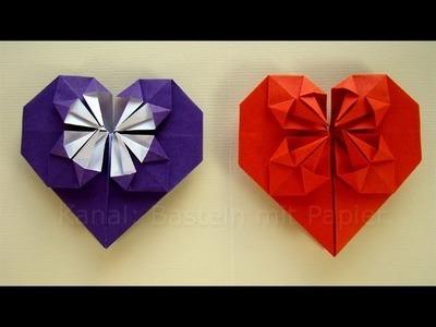 Origami Herz falten - Basteln mit Papier - Geschenkideen DIY
